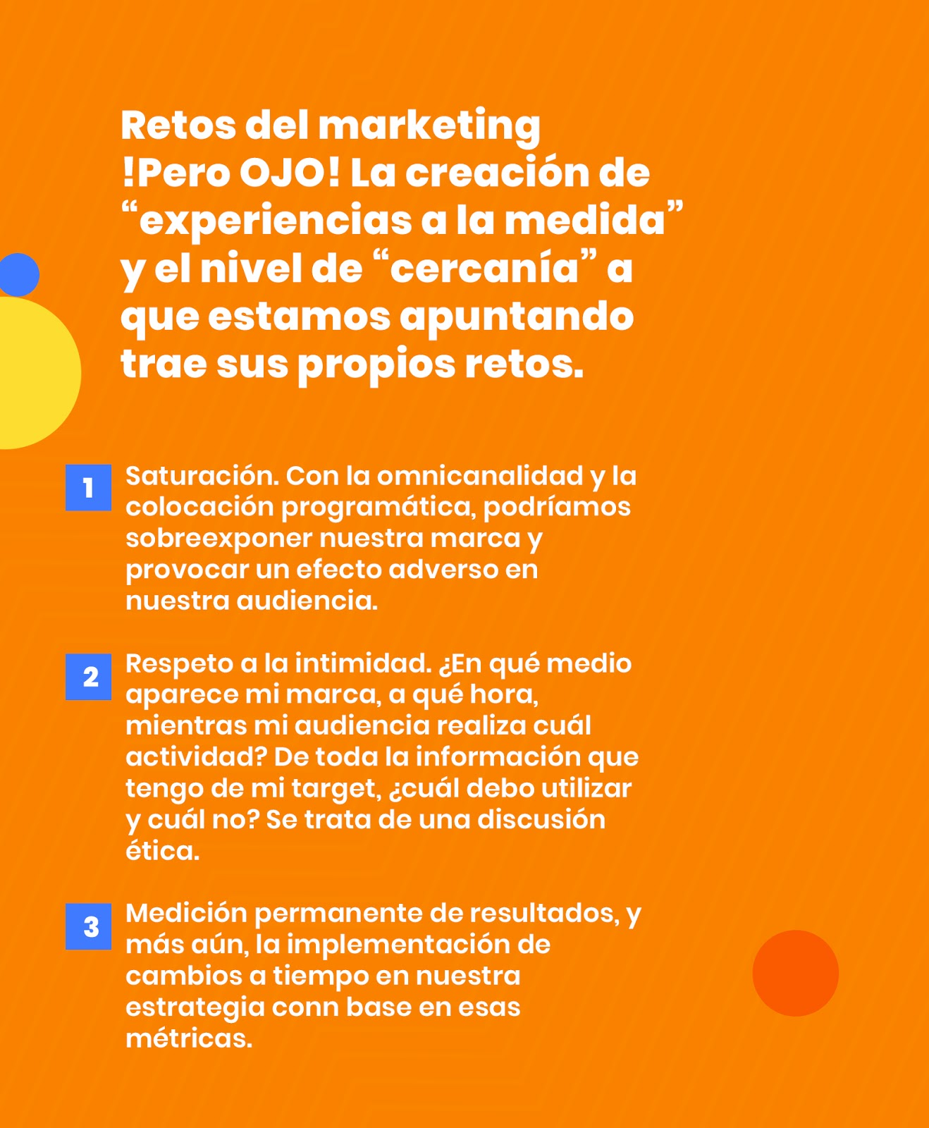 Retos del marketing personalizado